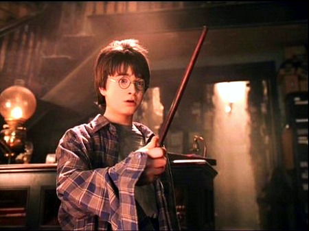 harry potter magic wand scene
